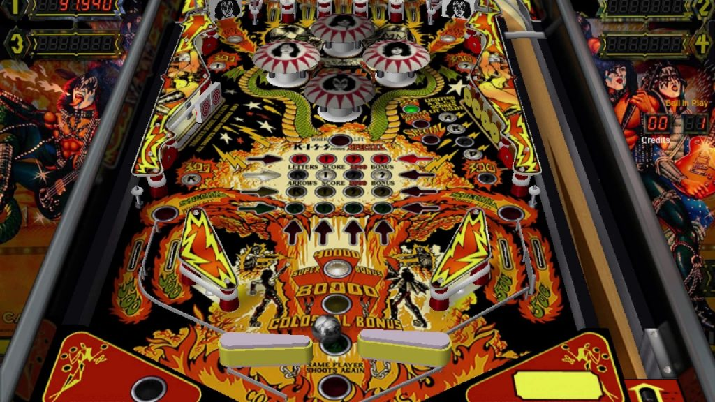 Virtual Pinball Hire ACDC Kiss Family Addams 800 Games To