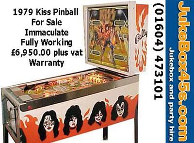 Kiss 1979 Pinball Machine For Sale To Buy – Tel: 01604