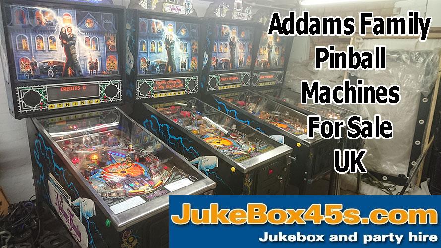 5 Addams Family Pinball Machines for Sale UK – Tel: 01604